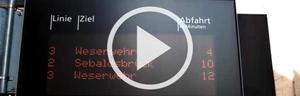 Video der elektronischen Anzeigetafel