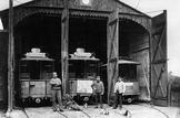 historischer Fahrzeugschuppen