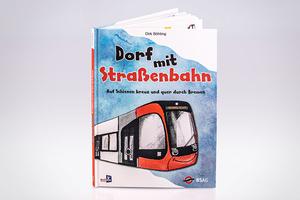 Kinderbuch Dorf mit Straßenbahn